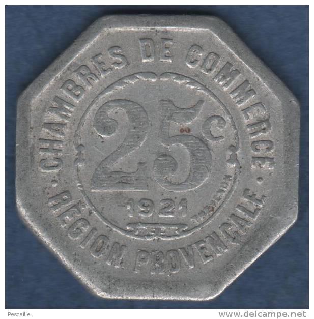 Jeton chambres de commerce region provencale 1921 25c for Chambre de commerce marseille provence