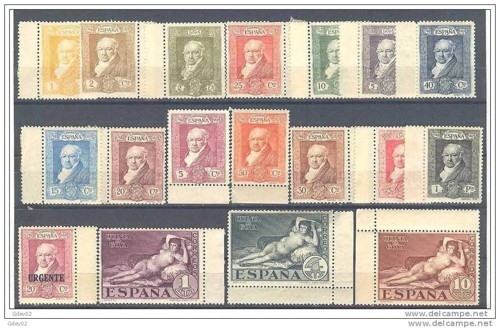 ES499-L3313TCO.Spain Espagne PINTURA QUINTA DE GOYA 1930. (Ed 499/16**) Sin Charnela MAGNIFICA - Celebridades