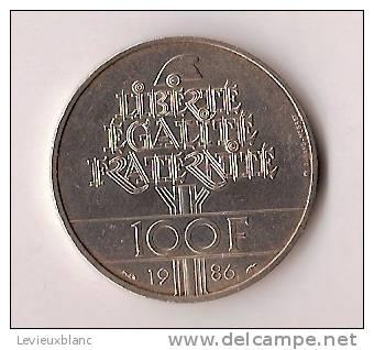 Piéce En Argent/ 100 Francs/ Statue Liberté/France/1986             BIL81 - Monnaies & Billets
