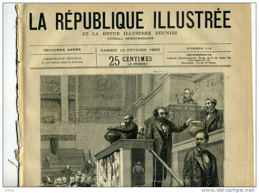 Les Ruines Du Palais Des Tuileries 1883 - Magazines - Before 1900