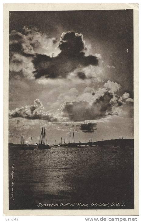 TRINIDAD B.W.I. - Sunset In Gulf Of Paria - Trinidad