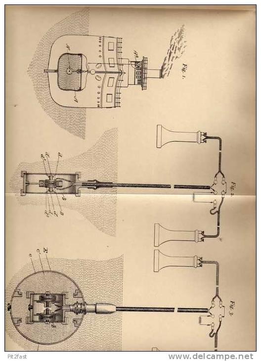 Original Patentschrift - Submarine Signal Comp. In Boston , 1902 , Signalaufnahme Von Schallwellen , Echolot !!! - Boats