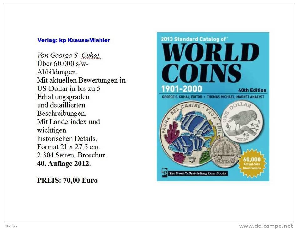 World Coin Catalog 2012 New 70€ Münzen Der Welt Verlag Krause/Mishler With Coins Of Europa Amerika Afrika Asien Ozeanien - Historia
