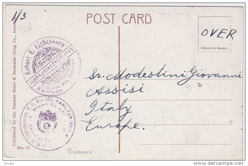 PGL AT183 - BERMUDA CEDAR COURT, BELMONT MANOR 1930 - Bermudes
