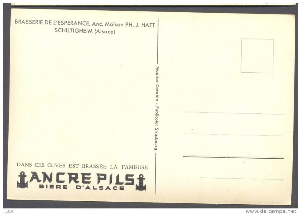 CARTE POSTALE FRANCE BRASSERIE ANCRE PILS SCHILTIGHEIM Alsace 67 - Schiltigheim