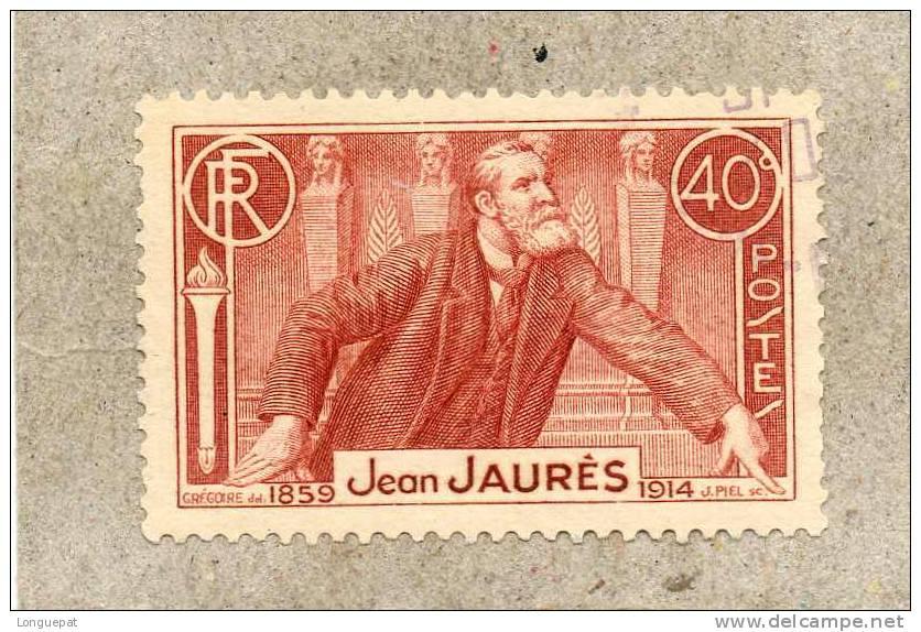 FRANCE : 22ème Anniversaire De La Mort De Jean Jaurès : Portrait à La Tribune -  Homme Politique Français - Oblitérés