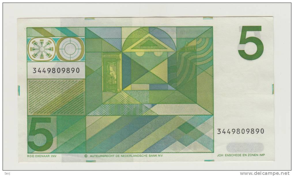 Netherlands 5 Gulden 1973 XF++ CRISP Pre-Euro Banknote P 95 - 5 Florín Holandés (gulden)
