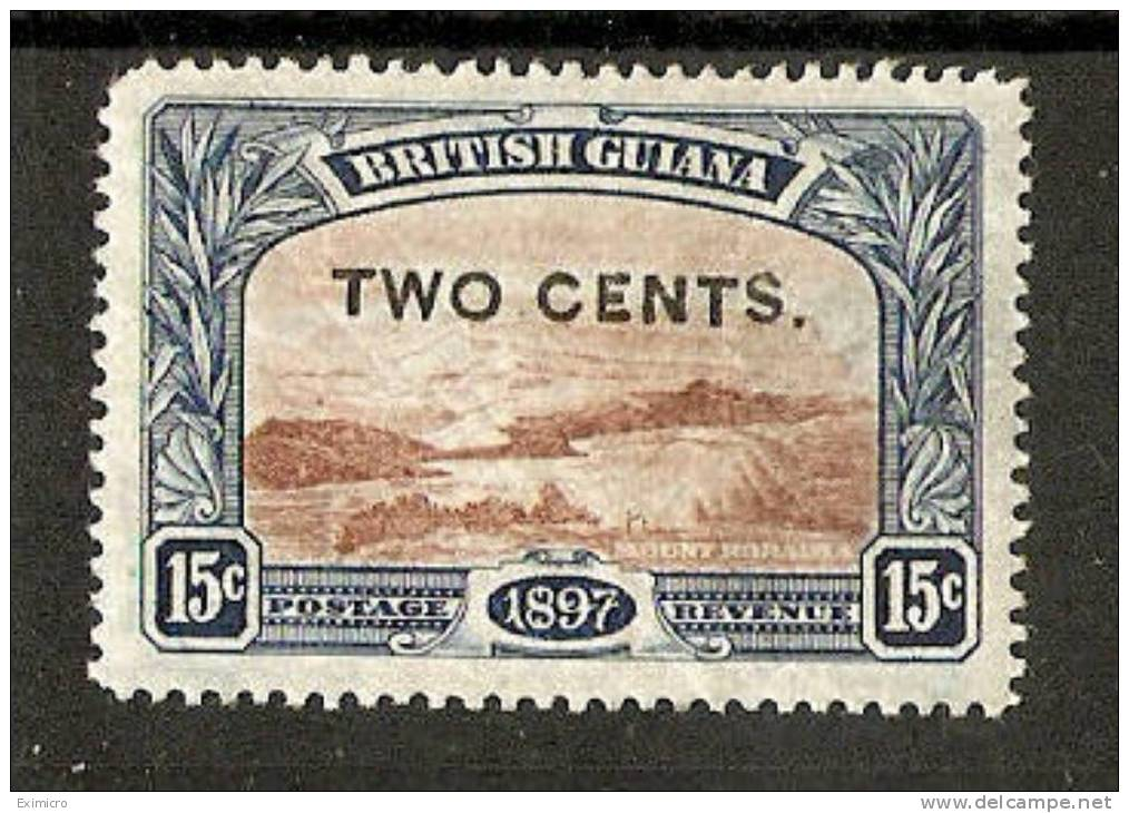 BRITISH GUIANA 1899 2c On 15c SG 224 MOUNTED MINT Cat £4 - British Guiana (...-1966)