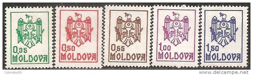 Moldova  1991  MNH**  -  Yv. 5/9 - Francobolli
