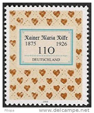 Deutschland / Allemagne / Germany  2000 : Mi. 2154 **   Rilke -  Bucheinband / Reliure / Cover . . W2116 - [7] Repubblica Federale