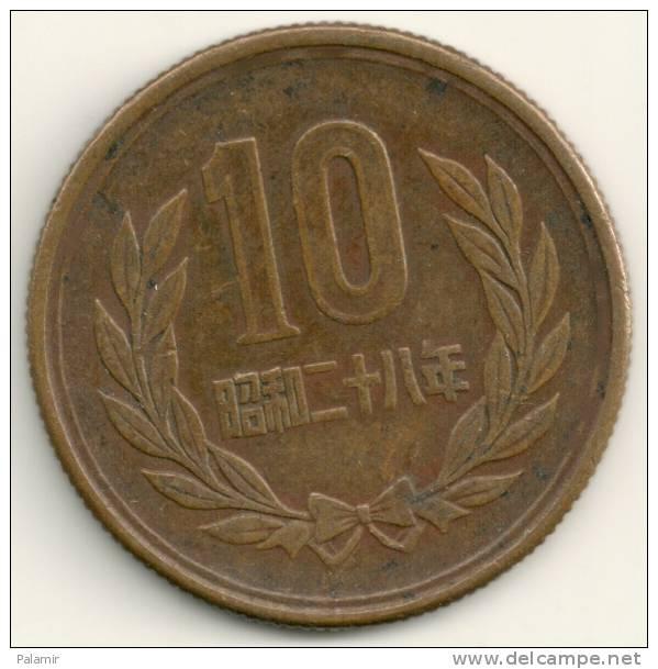 Japan  10  Yen Hirohito  Y#73   Yr. 28 (1953) - Giappone