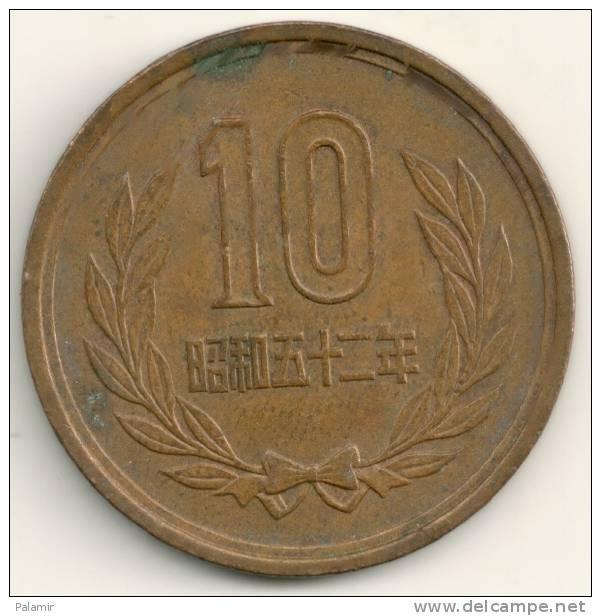 Japan  10  Yen Hirohito  Y#73a   Yr. 52 (1977) - Giappone