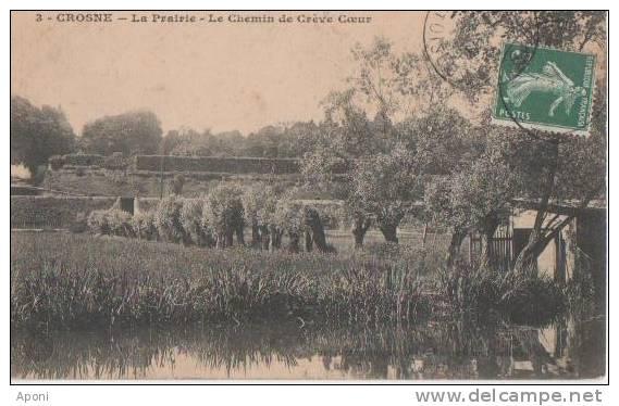.CROSNES .(.la Prairie Le Chemin De Creve Coeur. ). - Dourdan