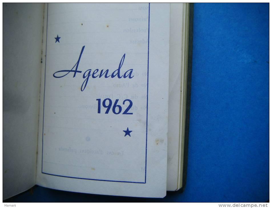 Agenda 1962-offert Par Denis Et Cie -martini Et Rossi-pub Interieure-cognac Gaston De Lagrange-manor L'ame Du Roussillon - Alcools