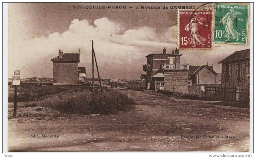 5105 - Pas De Calais -  Ste CECILE PLAGE  :  Avenue De Cambai   :circulée En 1927 - Other Municipalities
