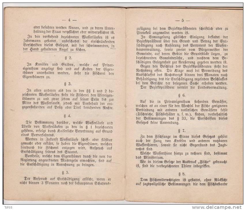 Alsace Lorraine Loi De Juin 1891 Sur La Pêche - Décrets & Lois