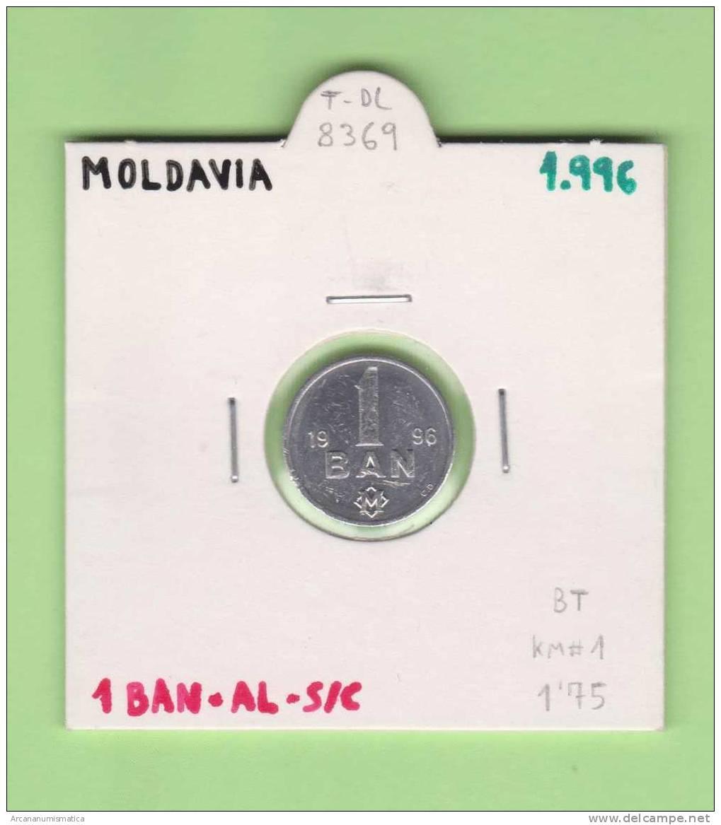 MOLDAVIA   1  BAN  1.996   AL  KM#1  SC/UNC    DL-8369 - Moldavia