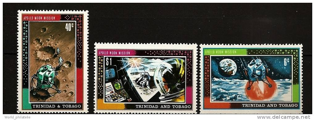 Trinité Trinidad & Tobago 1969 N° 253 / 5 ** Espace, Lune, Mission Apollo, Lem, Marche Sur La Lune, Cosmonautes - Trinidad & Tobago (1962-...)