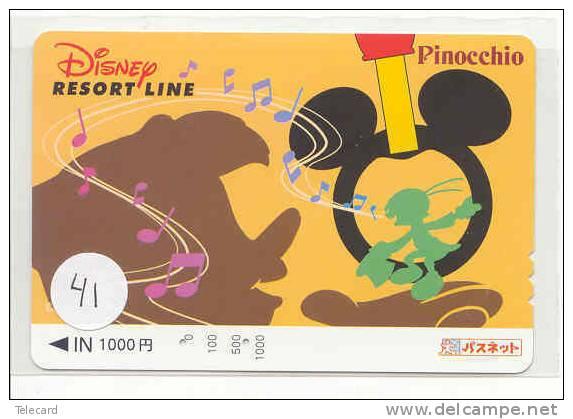 Carte Prépayée Japon (41) DISNEY JAPAN PINOCCHIO PREPAID CARD * FILM MOVIE CINEMA KINO - Disney
