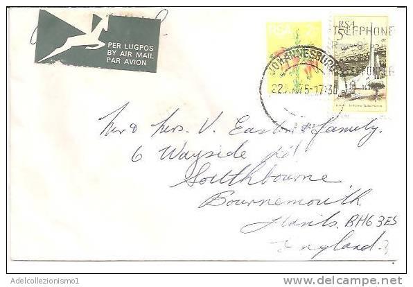 57615)lettera Aerea Inglese Con 2 Valori + Annullo 22.10.1975 - 1952-.... (Elisabetta II)