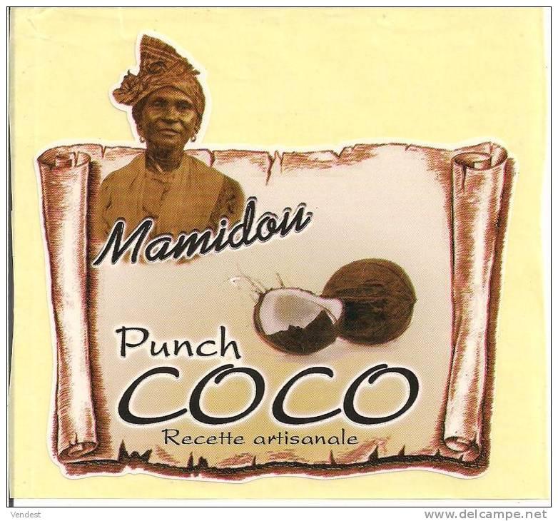 etiquette punch coco mamidou recette artisanale guadeloupe. Black Bedroom Furniture Sets. Home Design Ideas