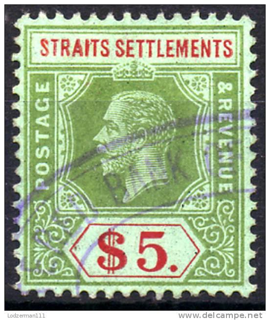 STRAITS SETTLEMENTS 1915 Wmk 3 - Sc.167 (Mi.151a, Yv.150) Used (VF) - Straits Settlements