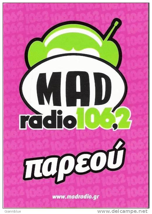 Music/Mad Radio - Greece Carte Postale/postcard - Cartes Postales
