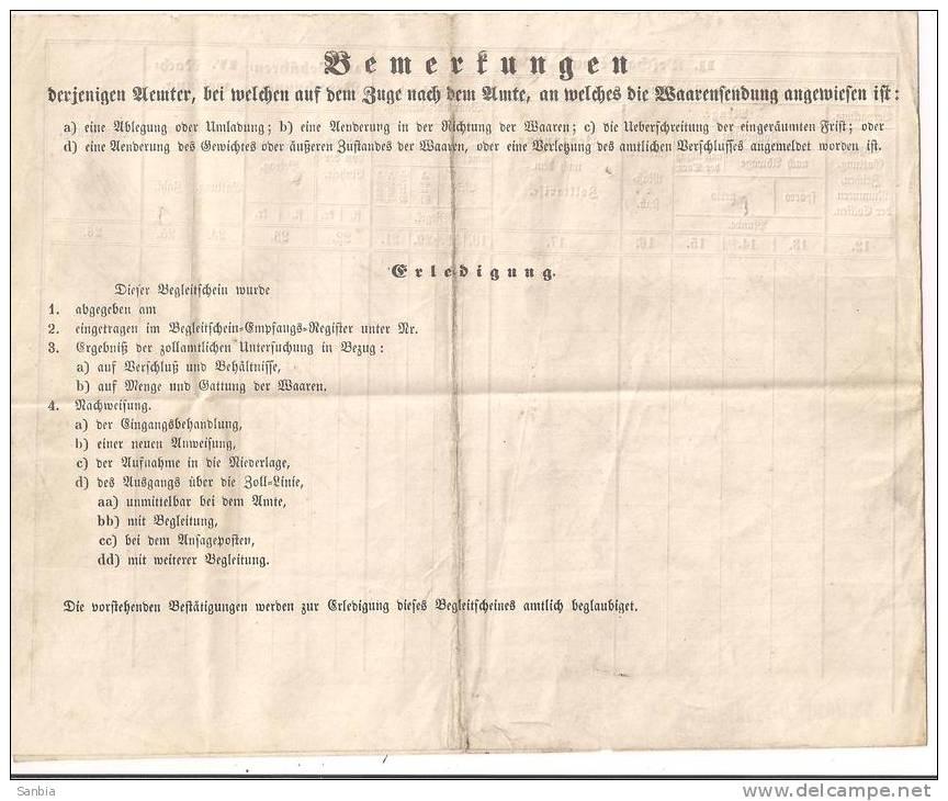 ERKLARUNG DER K. B. DAMPFBOOT - EXPEDITION LINDAU, 1864,Gesamtes Dokument, - Transports