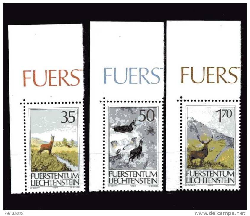 Liechtenstein** - 1986 -  La Caccia 1 Serie. Angolo Di Foglio - Liechtenstein