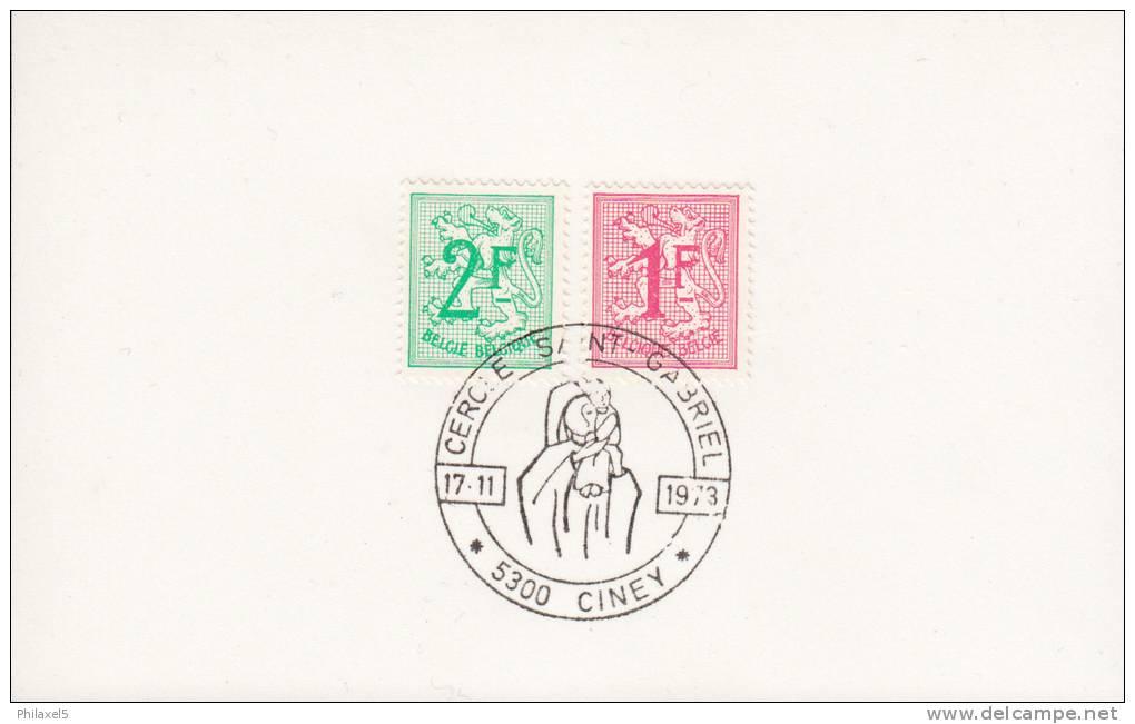 Ciney - Cercle Saint-Gabriel - 17 November 1973 - Gefälligkeitsabstempelung