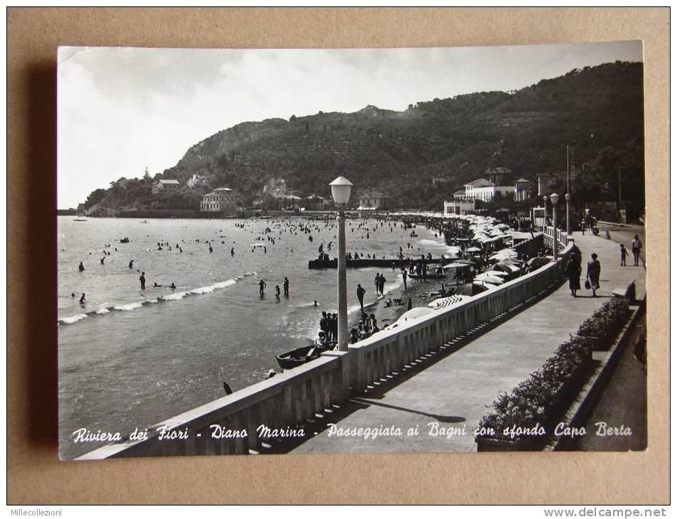 Im1176)  Riviera Dei Fiori - Diano Marina - Passeggiata Ai Bagni Con Sfondo Capo Berta - Imperia