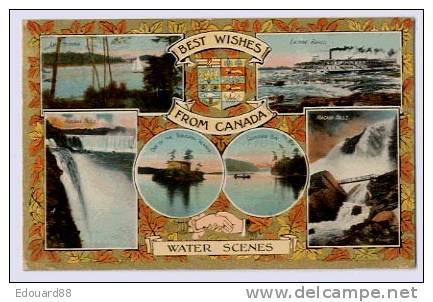 BEST WISHES FROM CANADA  WATER SCENES - Non Classés
