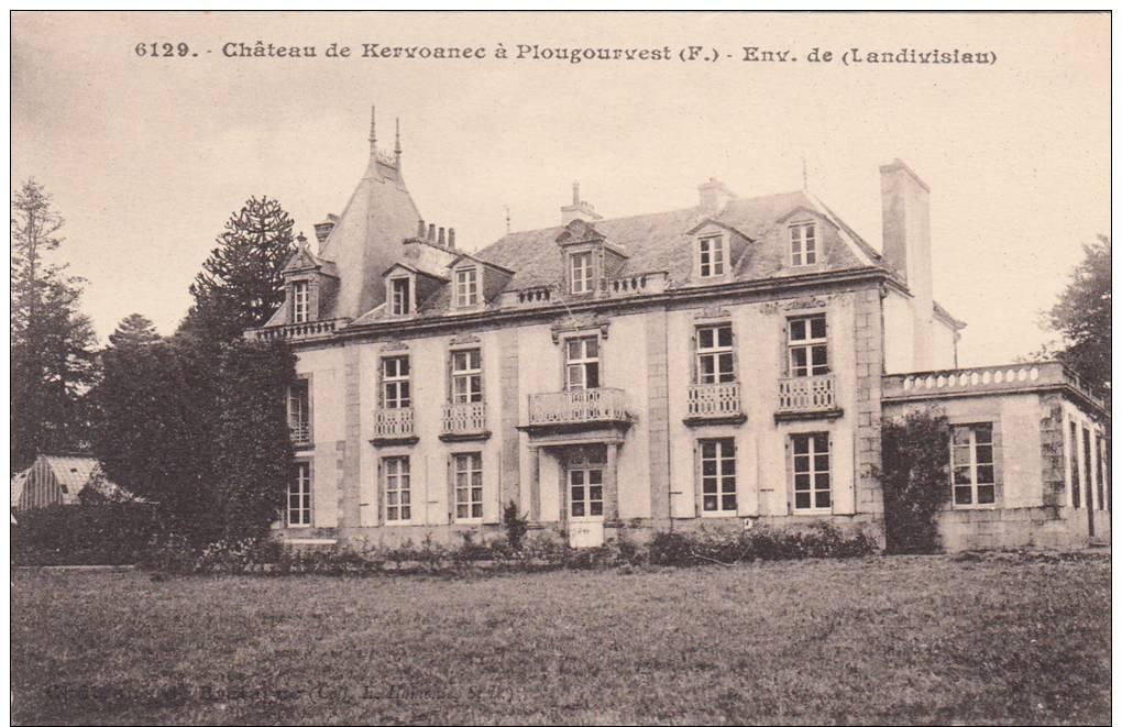 PLOUGOURVEST   LE CHATEAU DE KERVOANEC  Vers Landivisiau - France