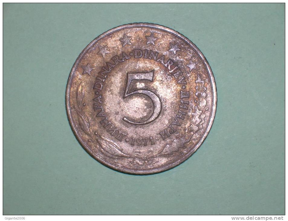 Yugoslavia 5 Dinares 1971 (3679) - Yugoslavia