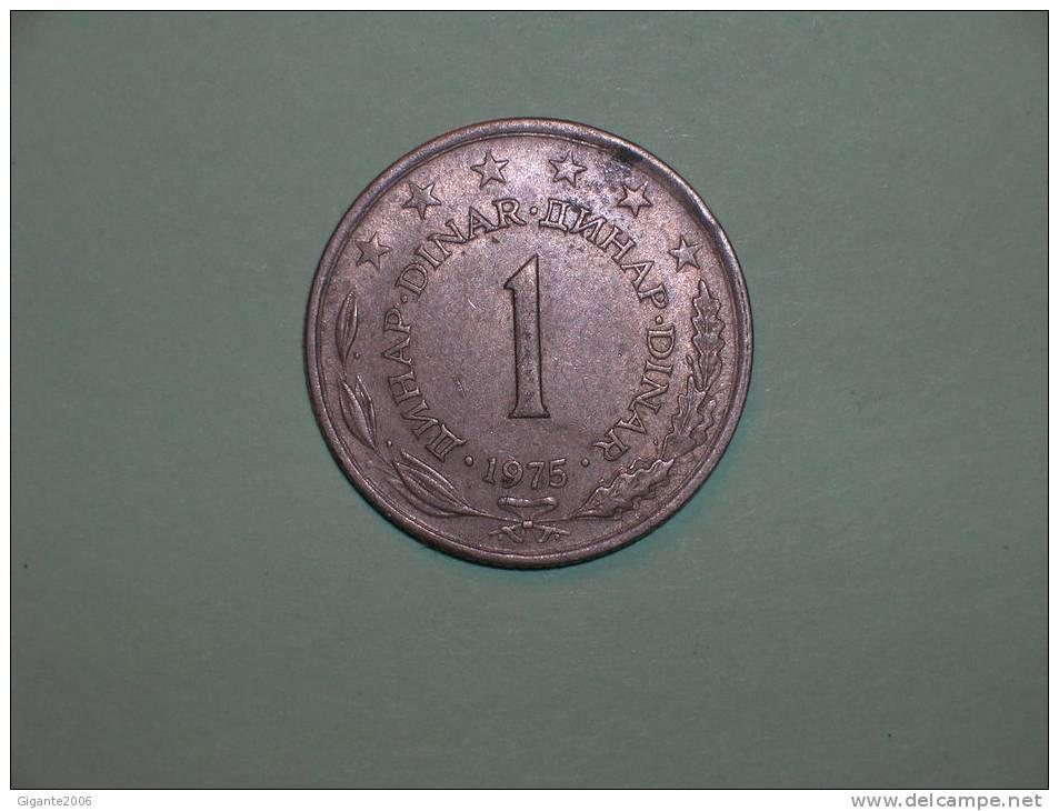 Yugoslavia 1 Dinar 1975 (3705) - Yugoslavia