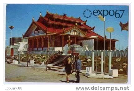MONTREAL  EXPO 67  LA BIRMANIE A CONSTRUIT DANS L'ILE NOTRE DAME UN PAVILLON DE STYLE TRADITIONNEL - Expositions