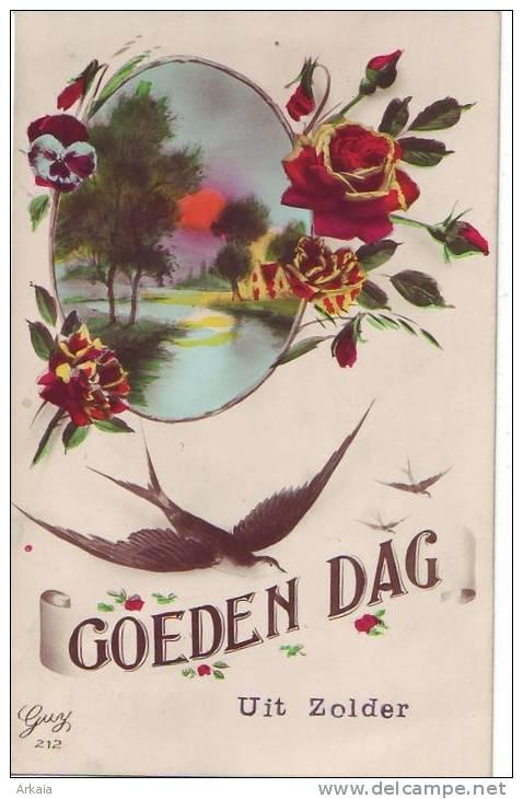 ZOLDER = Goeden Dag Uit.... - Carte Couleur (écrite) 1931 - België