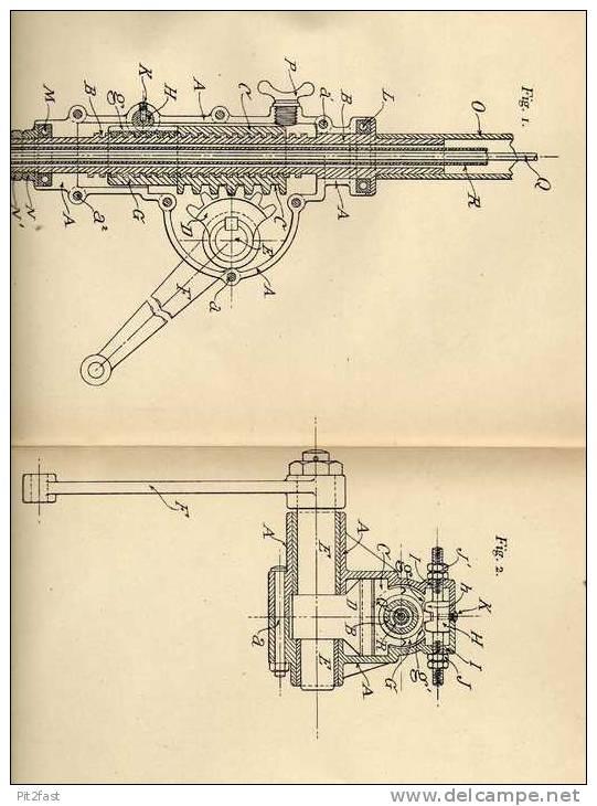 Original Patentschrift - W. Wilce In Hereford , England , 1906 , Nachsteller Für Lenkung , Automobile !!! - Cars