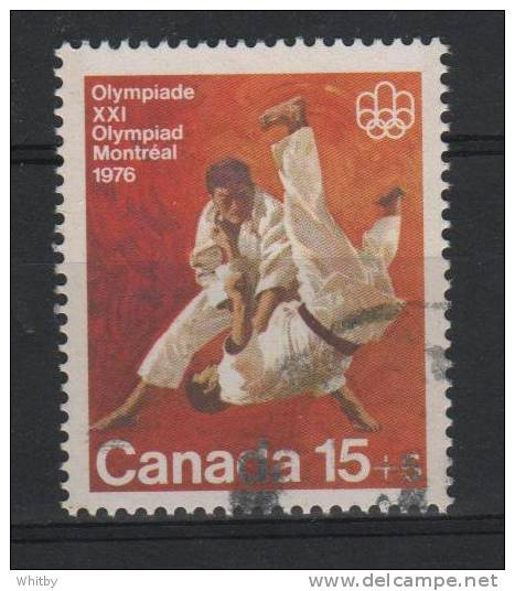 Canada 1975 15 + 5 Cent Olympic Judo Semi Postal Issue #B9 - Semi-Postals