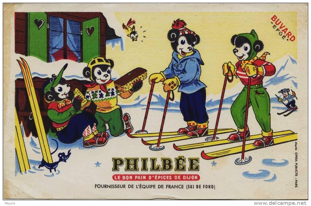 Buvard -  **  PHILBEE  **  LE BON PAIN D´EPICES DE DIJON  -  RARE - Gingerbread