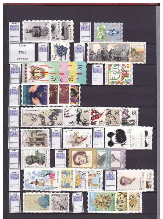 CHINE - Très Belle Collection De 1984 à 2005 - 1300 Timbres*** - 57 Blocs Neufs***.... - Collezioni & Lotti