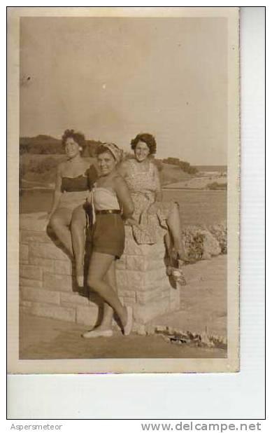 1955 AÑO  MODA  MAR DEL PLATA ARGENTINA  OHL - Vintage Clothes & Linen
