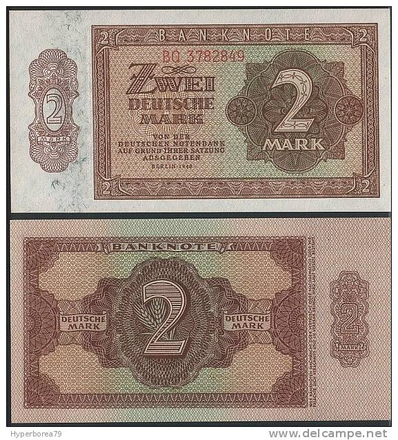 Germany ( DDR ) P 10 B - 2 Deutsche Mark 1948 - UNC - [ 6] 1949-1990 : RDA - Rep. Dem. Tedesca