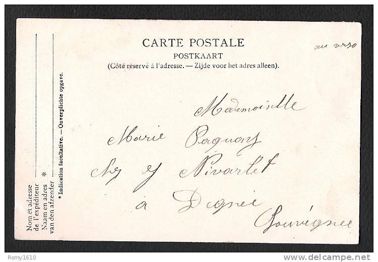 Herstal. La Gare -  Wagons Et Chevaux.  Voyagée En 1903. Voir Les 2 Scans. - Herstal