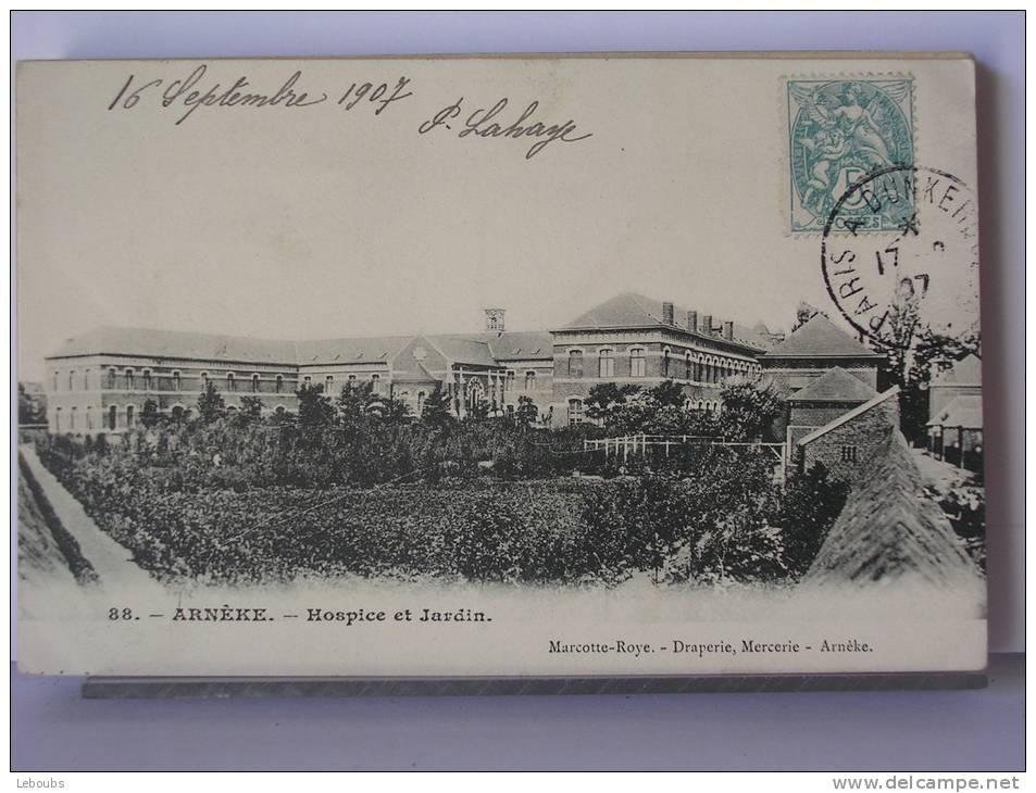 ARNERE (59) - HOSPICE ET JARDIN - 1907 - Non Classés