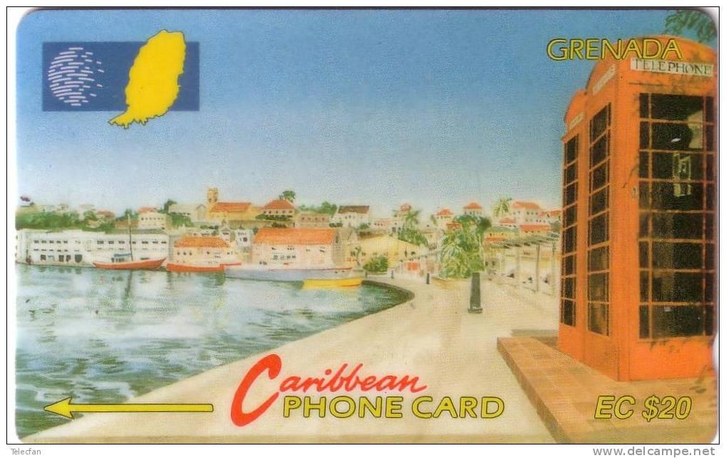 GRENADE CARENAGE ST GEORGES 20$ N° 8CGRB.... ANCIENNE OLD RARE - Grenada