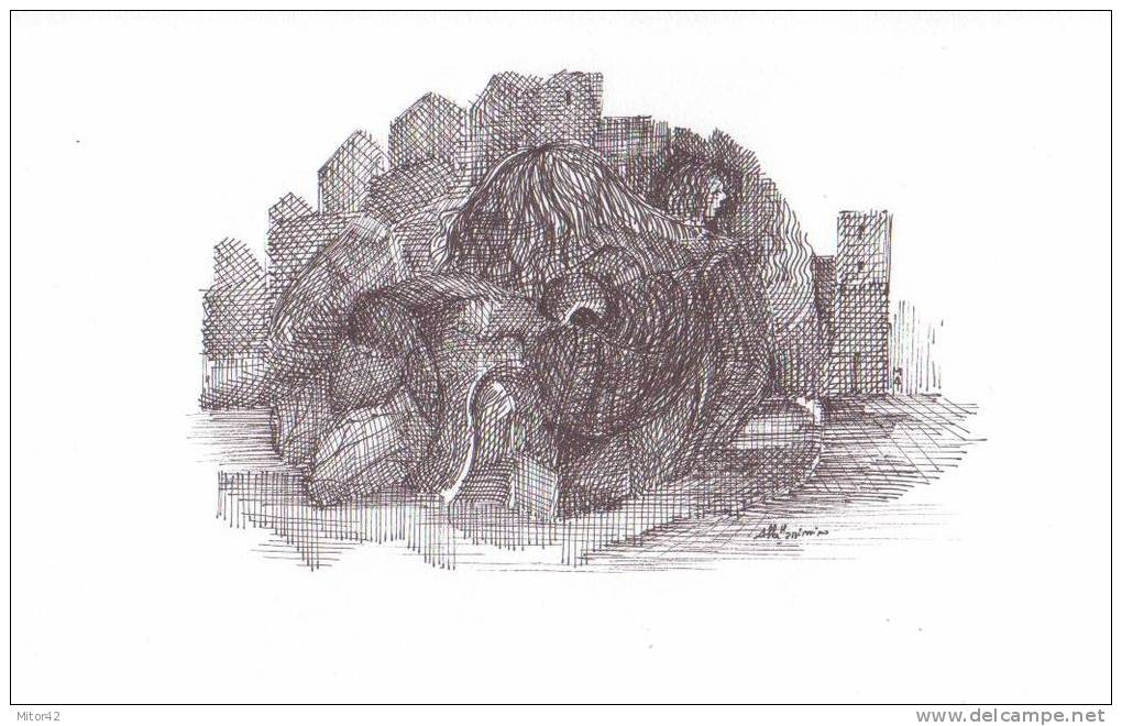 19-Original Drawing In Ink Of China- 29,5 X 21 Cm, With Certificate Of Guarantee Signed By Italian Artist - Drawings
