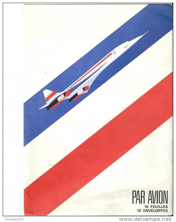 Enveloppe Concorde Aviation Avion Plane Flugzeug Aéronautique Papeterie - Papiere