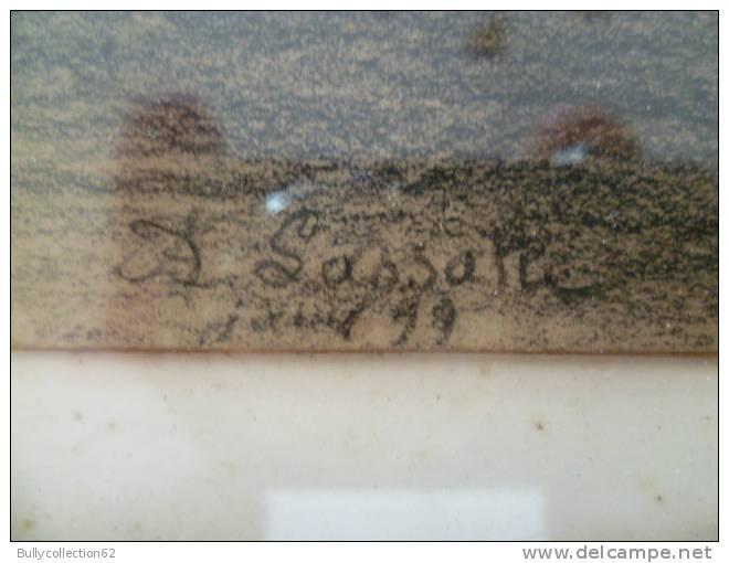 FUSAIN  Signé  F. LASSALLE 1899 Pièce Rare Grosse Cote - Autres