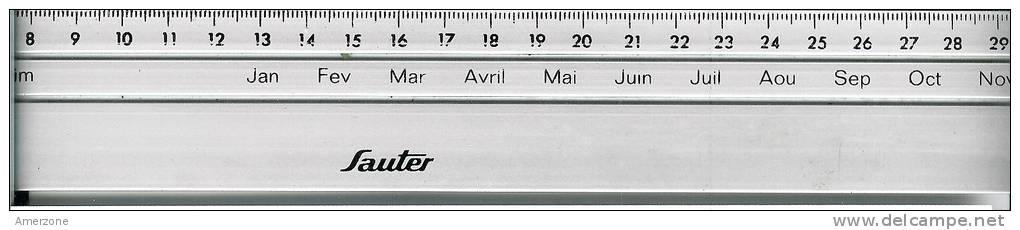 """OBJET PUBLICITAIRE REGLETTE 31cm """" Sauter"""" ALU  NEUVE - Publicité"""